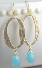 Gold + Turquoise Earrings
